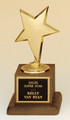 Modern Star Award, Cast Star, Walnut base, #105