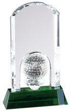 Crystal Golf Trophy Award, Green Crystal Base