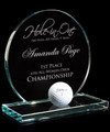 Hole In One Jade Glass Award Circular