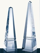 GROOVE OBELISK CRYSTAL AWARDS, 4 sizes available
