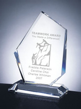 """PRESTIGE SUMMIT CRYSTAL AWARD, 6 3/4"""", 3 sizes available, personalized"""