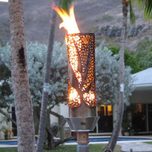 Bird Of Paradise Style Outdoor Tiki Torch With Automated
