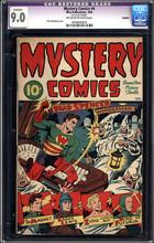 Mystery Comics #4 (1944) CGC 9.0 VFNM (Trimmed) Schomburg KKK Cover