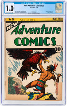 New Adventure Comics #26 (1938) CGC 1.0 FR Unrestored - Action #1 ad