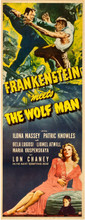 "Frankenstein Meets the Wolf Man (Universal, 1943) Insert (14"" X 36"")"