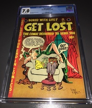 Get Lost #1 (1954) CGC 7.0 FVF Classic GGA cover, Scarce