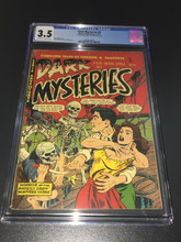 Dark Mysteries #5 (1952) CGC 3.5 VG- Classic skeleton pirate cover! scarce
