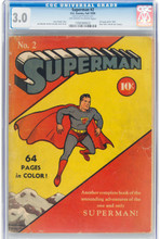 Superman #2 (DC, 1939) CGC GD/VG 3.0 Off-white to white pages