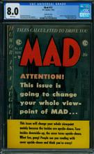Mad #17 CGC 8.0 VF Gaines File copy