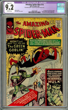 Amazing Spider-man #14 (1964) CGC 9.2 NM- 1st Green Goblin