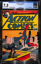 Action Comics #28 (1940) CGC 7.5 VF-