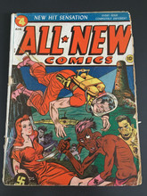 All New Comics #4 - Classic Nazi Monster cover! Rare