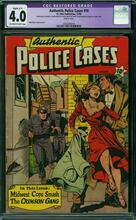 AUTHENTIC POLICE CASES #10 (1950) CGC 4.0 - Matt Baker cover
