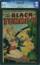 Black Terror #20 (1946) CGC 6.5 F+ Classic cover