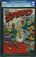 Speed Comics #43 (1946) CGC 9.2 NM- Classic Robot cover