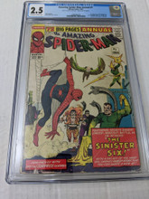 Amazing spider-man annual #1 (1964)  CGC 2.5 GD+
