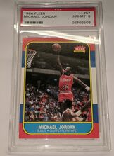 Michael Jordan 1986 Fleer #57 PSA 8 NM-MT Rookie card