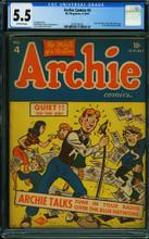 Archie Comics #4 (1943, MLJ) CGC 5.5