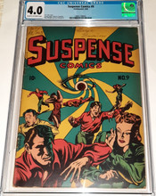 Suspense Comics #9 (1945) CGC 4.0 Classic LB Cole Eyeball cover