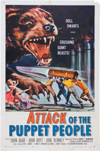 Attack of the Puppet People (International, 1958) One Sheet