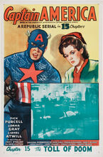 Captain America Serial CH 15 (Republic 1944) One Sheet Linen