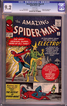 Amazing Spider-Man #9 (1964)  CGC 9.2 NM- 1st Electro ! White pgs