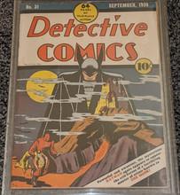 Detective Comics #31 (1939)  CBCS 5.0 Classic Cover