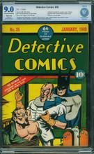 Detective Comics #35 (1940) CBCS 9.0 (R) Classic Cover! Scarce