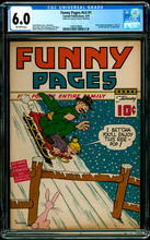 FUNNY PAGES #v3 #1 (1939) CGC 6.0 Bruce Wayne prototype