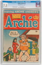 Archie Comics #11 (MLJ, 1944) CGC VF- 7.5 Second Highest graded