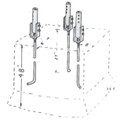 Model HUB3-6 DMX Sections 3-6 Hinge-Up Base