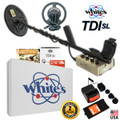 Whites TDI SL Hi-Q Metal Detector with 2 Coils