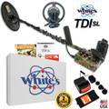 Whites TDI SL Hi-Q Camo Metal Detector with 2 Coils