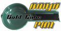 GOLD CUBE BANJO PAN GOLD PAN