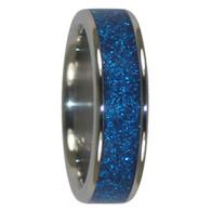 8 mm Blue Metallic Inlay, Titanium - K903H