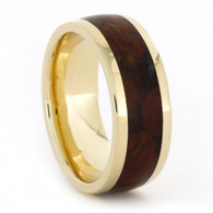 7 mm 14 Kt Yellow Gold with Jasper Inlay - J768M