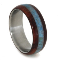 7 mm Ruby Redwood/Turquoise in Titanium - T822M