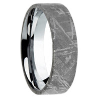 6 mm Mens Wedding Bands with Meteorite - A444M