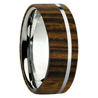 8 mm Exotic Wood in Titanium - K109M-Bocote