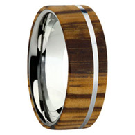 8 mm Exotic Wood in Titanium - K109M-Zebra