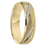 6 mm 10kt. Two-tone Gold Handcrafted - Aarmen