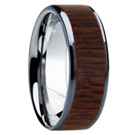 8 mm Unique Bands - Leopard Wood Inlay - K121M-Leopard