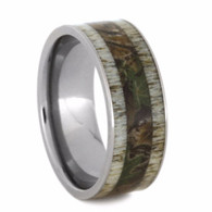 9 mm Titanium with Camo and Deer Antler Inlay - C255M