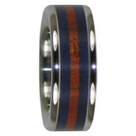 10 mm Bloodwood and Lapis Inlay, Titanium - LL229H