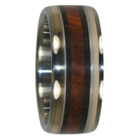 9 mm Amboyna and Blackwood & 14 Kt. Yellow Gold Inlay, Titanium - AW432H