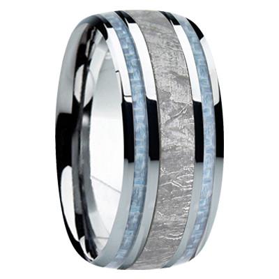9 Mm Meteorite Mens Wedding Bands M740fs