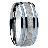 9 mm Meteorite in Cobalt Chrome, Mens Wedding Bands - CC740FS