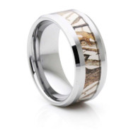 8 mm Mens Wedding Bands, Camo Inlay Tungsten - C555C