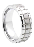 8 mm Matrix Tungsten Band, Lifetime Warranty - N444C