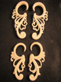 CASCADE organic bone spiral ear gauges - 12g - 0g body jewelry gauged earrings